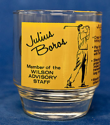 Julius Boros Wilson Advisory Board Old Fashioned Glass   Vintage