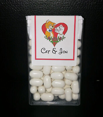 Disney Wedding Favors (@*12 CUSTOM MADE DISNEY WEDDING/ANNIVERSARY TIC TAC FAVOR LABELS*@USE OWN)