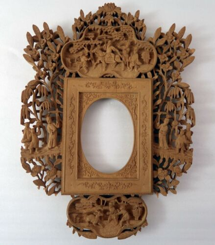 Carved Wood Frame Master Work Museum Quality Mandarin Chinese Antique INCREDIBLE