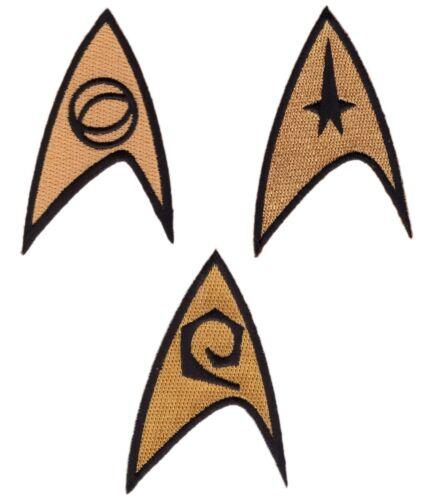3pc Set Star Trek Command Science Engineering Insignia Uniform Patches