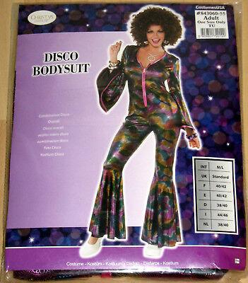 Damen Karneval Kostüm Disco Bodysuit Gr. M/L Overall Halloween Fasching