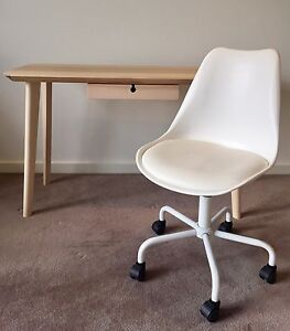 LISABO Desk and White Chair *As New Beaumaris Bayside Area Preview