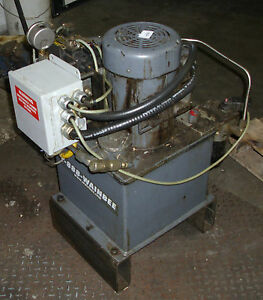 3 4 hp leeson motor wainbee hydraulic unit pump used for Hydraulic pump motor units