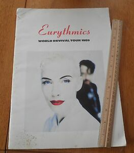 1989-Eurythmics-World-tour-program-Annie-Lennox-with-ticket-stub