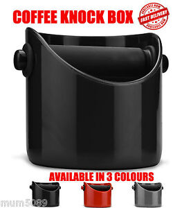 BLACK COFFEE KNOCK BOX GRINDENSTEIN Espresso Grinds Tamper Waste Bin