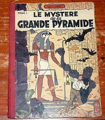 Blake & Mortimer : Le mystère de la grande pyramide tome 1 édition 1954