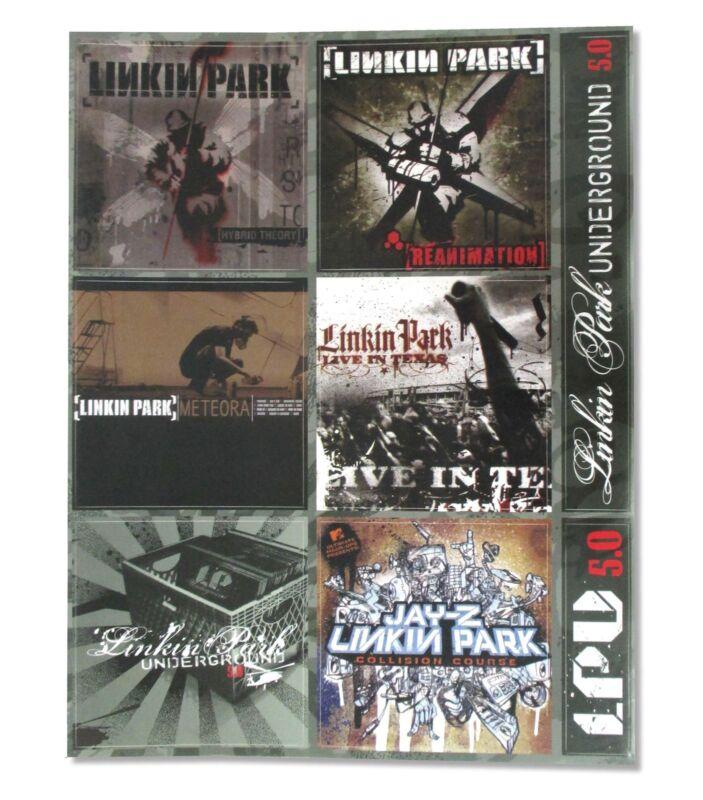 Linkin Park Album Cover Sticker Sheet New Official Band Music