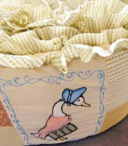 Pottery Barn Beatrix Potter Peter Rabbit Crib Bumper Guard Patchwork Unisex