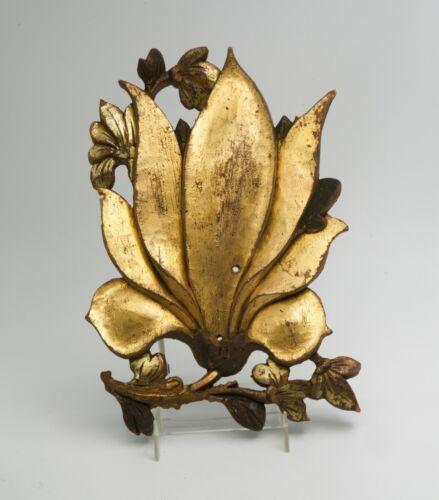 Antique Oriental Carved Wooden Gold Gilt Decorative Fragment