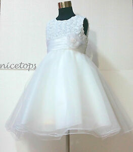 W810-White-Wedding-Party-Dress-Bridesmaid-Flower-Girls-Dresses-AGE-SIZE-1-to-10Y