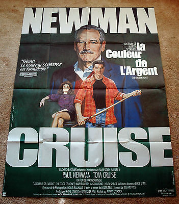 Vintage Original THE COLOR OF MONEY - PAUL NEWMAN TOM CRUISE Movie Poster 1sh