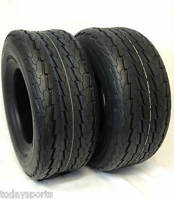 2 (TWO) 20.5x8-10 20.5x8.0-10 20.5x8.00-10 6 PR Load C Heavy Duty Trailer Tire