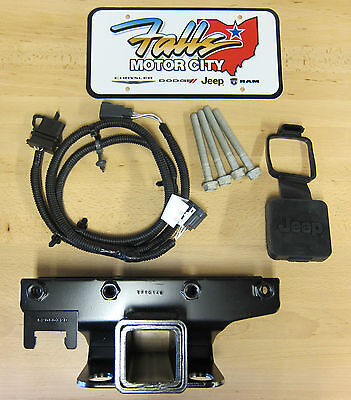 2007-2018 Jeep Wrangler JK Trailer Tow Hitch Receiver/4-Way Wiring Kit & Cover