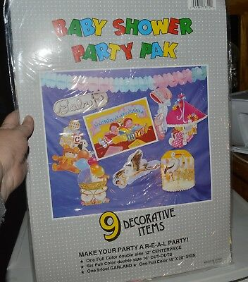 C-P Baby Shower Party Pak No. SO 47 9 Decorative Items Sort of Vintage - Baby Shower Party Ideas Decorations