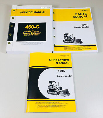 Service Manual Set For John Deere 450c Crawler Loader Operator Parts Tech Repair