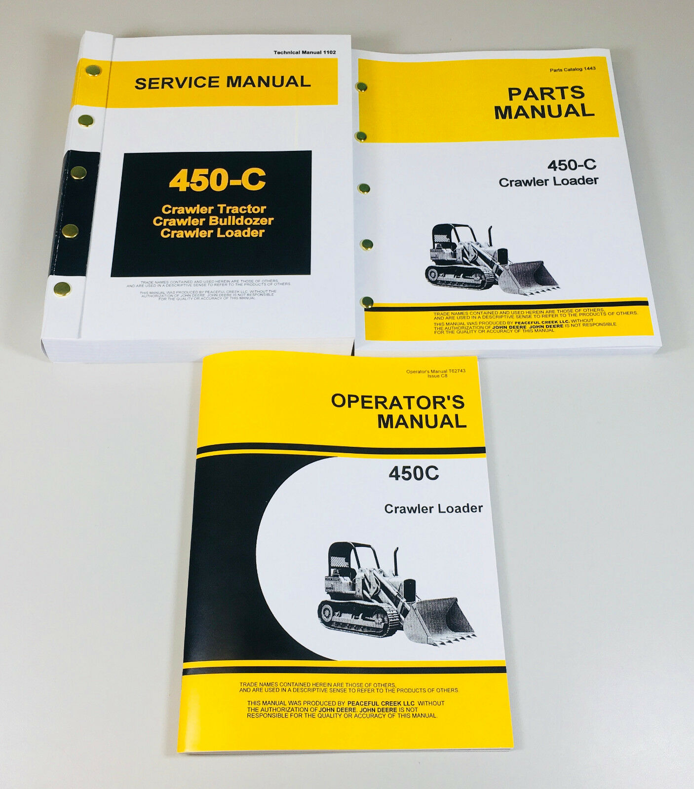 Heavy Equipment Parts & Accessories OPERATORS MANUAL FOR JOHN ...