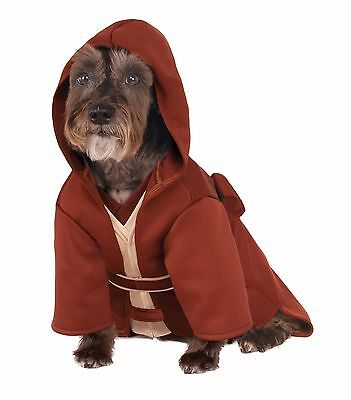 Dog Jedi Costume (Rubies Jedi Robe Star Wars The Force Yoda Luke Pet Dog Halloween Costume)