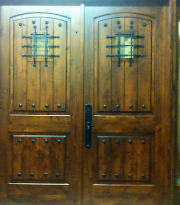 6068 Rustic Knotty Alder Arch Top Entry Doors - FAST SHIPPING Arch Top Entry Doors