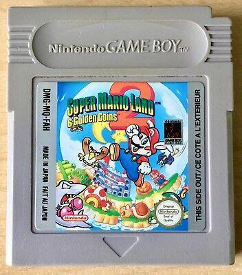 NINTENDO GAMEBOY  Super Mario Land 2: 6 golden coins + protection case