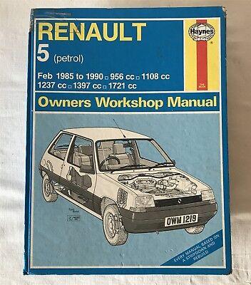 Renault 5 1985-90 Owner's Workshop Manual by A. K. Legg (Hardback, 1990) H907063
