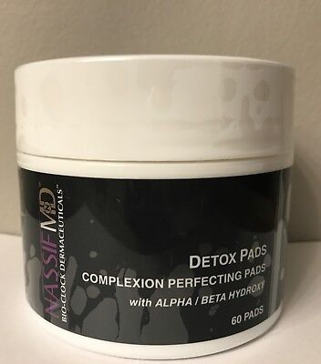 Alpha-beta-hydroxy - (Nassif MD™ Detox Pads Alpha Beta Hydroxy Complexion 60 Pads New SEALED Fresh $45)
