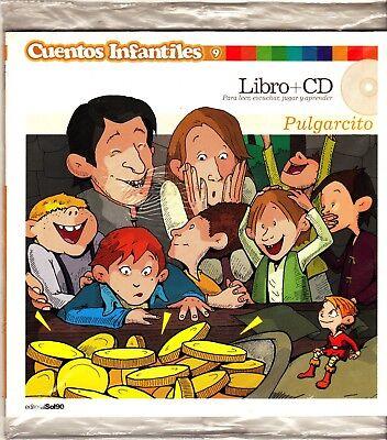 PULGARCITO LIBRO (TAPA BLANDA) + CD CUENTOS INFANTILES 9 NEW!