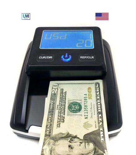 UPROMAX Portable Fake Counterfeit Bill Detector & Counter IR MG UV Dollar Euros