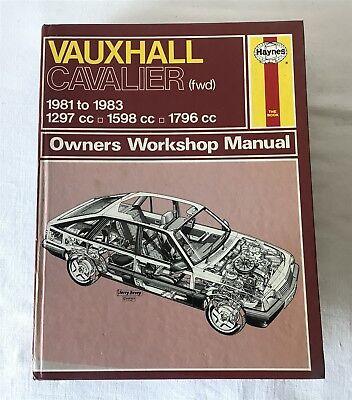 Vintage Haynes 012 Vauxhall Cavalier FWD 1981-83 Owners Workshop Manual 1983