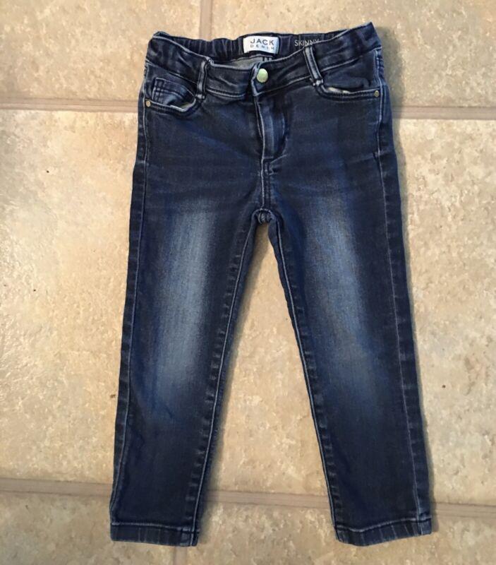 Janie & Jack Girls Size 3 Adorable Blue Denim Skinny Jeans With Adjustable Waist