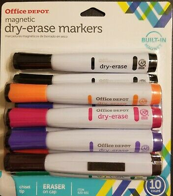 Office Depot Magnetic Dry-erase Markers10 Ct Built In Magnet