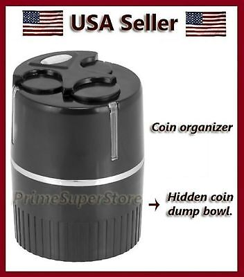 New Black Coins/Change Holder For Cup Holder or Dash Mount Car Auto Rv & truck