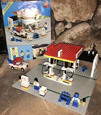 Vintage LEGO Legoland town Set 6378 Shell Service gas Station with Instructions