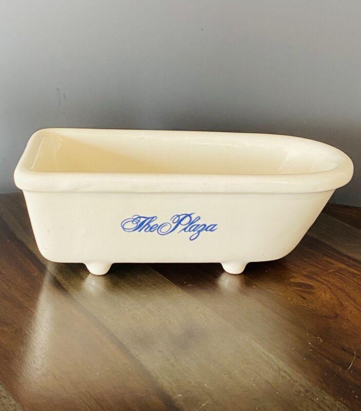 "Vintage ""The Plaza"" Hotel New York 75th Anniversary 1982 Bathtub Soap Dish"
