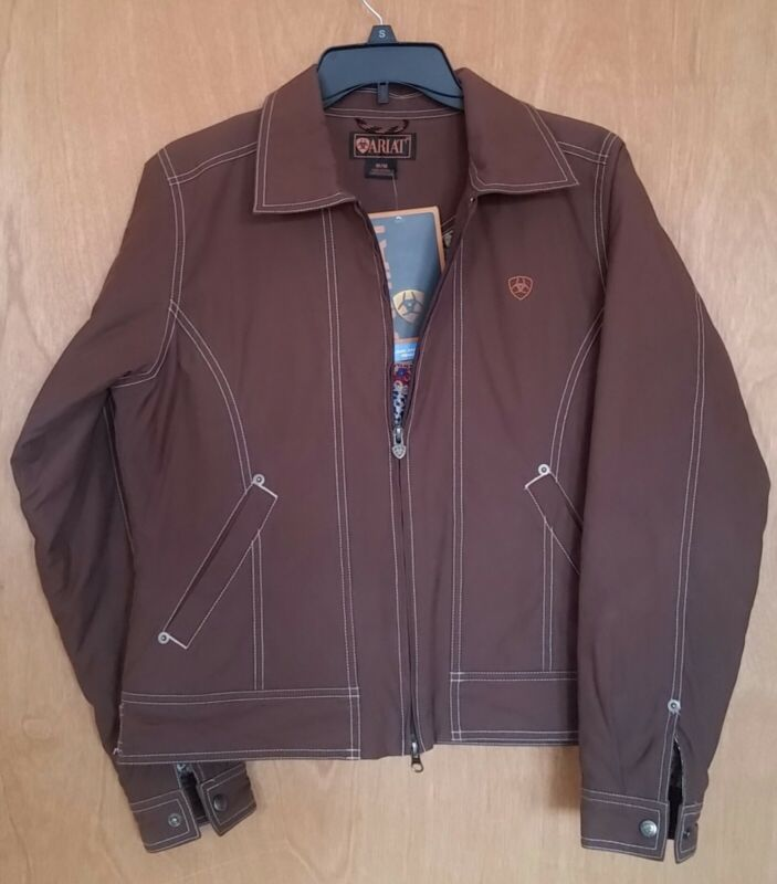 NWT Ariat Insulated Wind/Water Resistant Fitted Riding Jacket-Chocolate-Medium