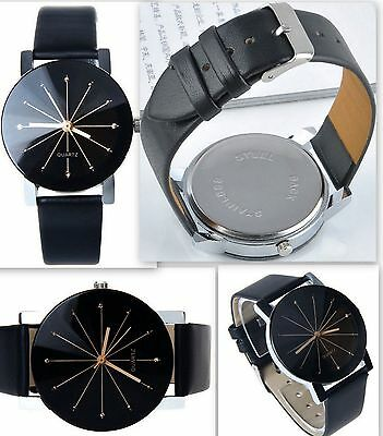 Stunning Women/Men Leather Sports Watch Analog Quartz Wrist Watch!
