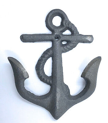 Nautical Cast Iron Ship Anchors Wall Ocean Beach Office Decor Hook