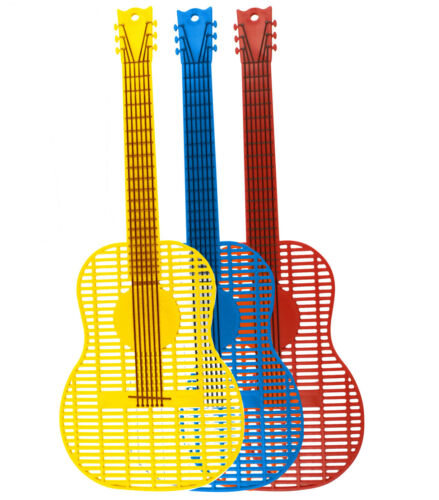 Large Guitar Fly Swatters (Asstd Colors)