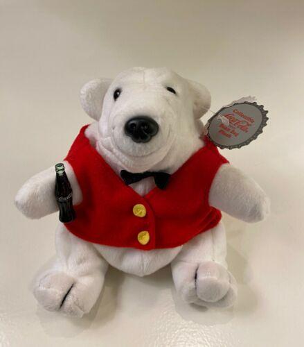 Coca Cola ~ Polar Bear in Red Vest & Black Bowtie Plush toy ~  EUC ~ no box