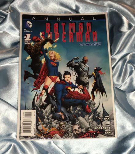 BATMAN SUPERMAN ANNUAL #1~SUPERGIRL/BATGIRL~JAE LEE ART~NM