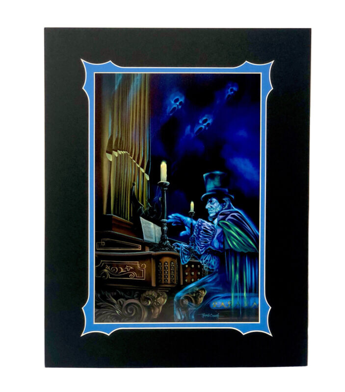 """Disney Parks The Haunted Mansion The Haunted Organist Art Print 18""""x14"""" NEW"""