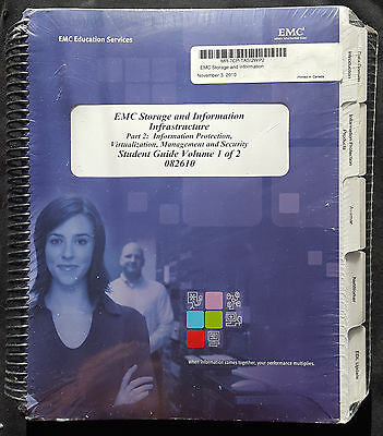 EMC Educational Services Storage & Information Infrastructure Manuals 1 & 2 NEW
