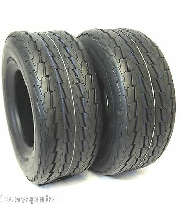 Set of 2   20.5x8x10 Trailer Tires Load Range E 10 P.R.  20.5 x8-10  20.5 8 10