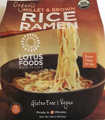 - Lotus Foods Organic Millet & Brown Rice Ramen, 12 Pack,GLUTEN FREE,VEGAN