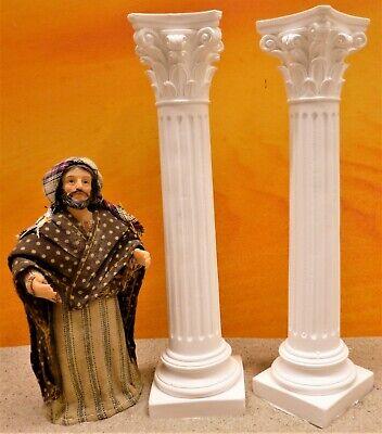 Krippenzubehör, Krippenbau, Ruinenbau, 2 orientalische griechische Säule 18,5cm - Griechische Zubehör