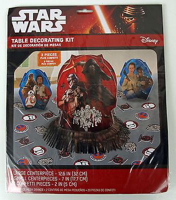 AWAKENS - SET TISCHDEKORATION -  AUS DEN USA - SELTEN - OVP (Star Wars Tisch Dekoration)