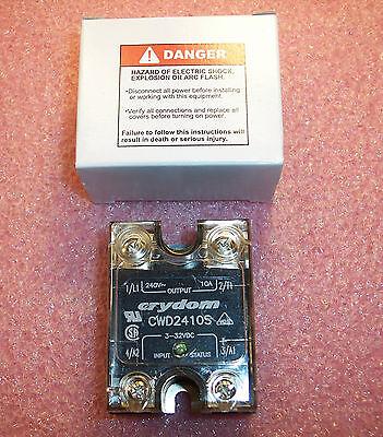 Qty 1 Cwd2410s Crydom Solid State Relay W Cover 3-32v Nib