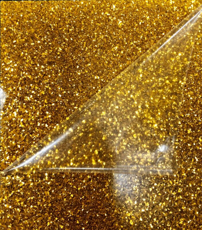 Drum covering Gold Glitter Glass       Full Sheet!