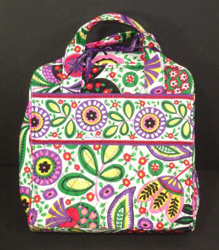 NEW Vera Bradley Organizer Cosmetic Make Up Travel Bag Viva La Vera Pattern NWOT