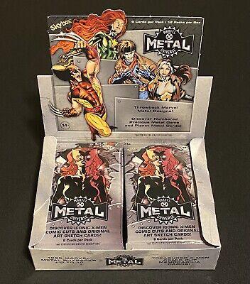 2021 Marvel X-Men Metal Individual Sealed Pack 6 Cards PMG Geodes Wolverine 🔥