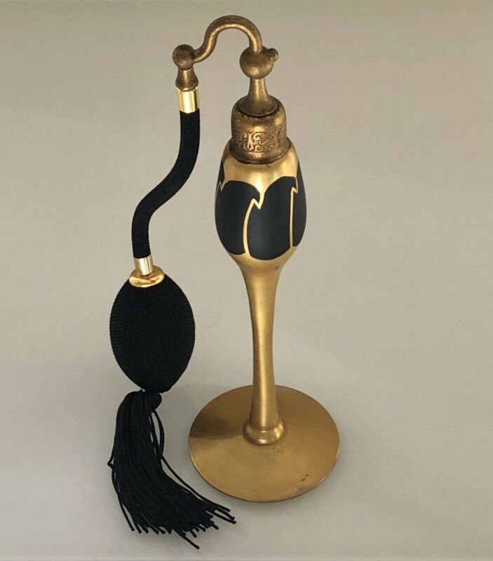 Antique DeVilbiss Perfume Atomizer 1920s Black & Gold Art Deco